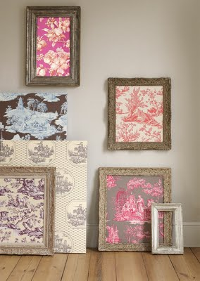 framed toile fabric