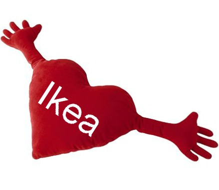 ikea heart cushion