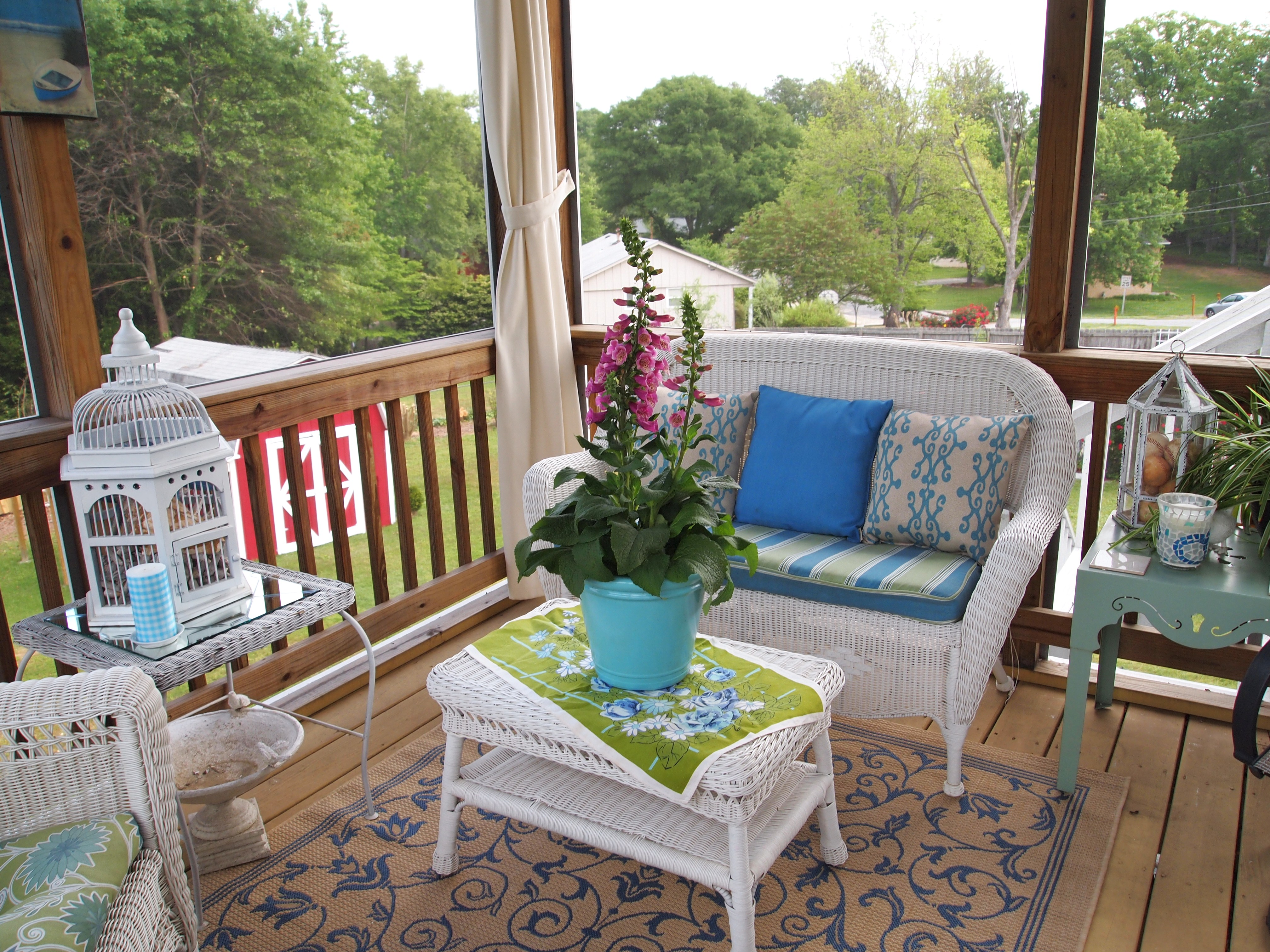 Screened Porch Decorating - A Cultivated Nest