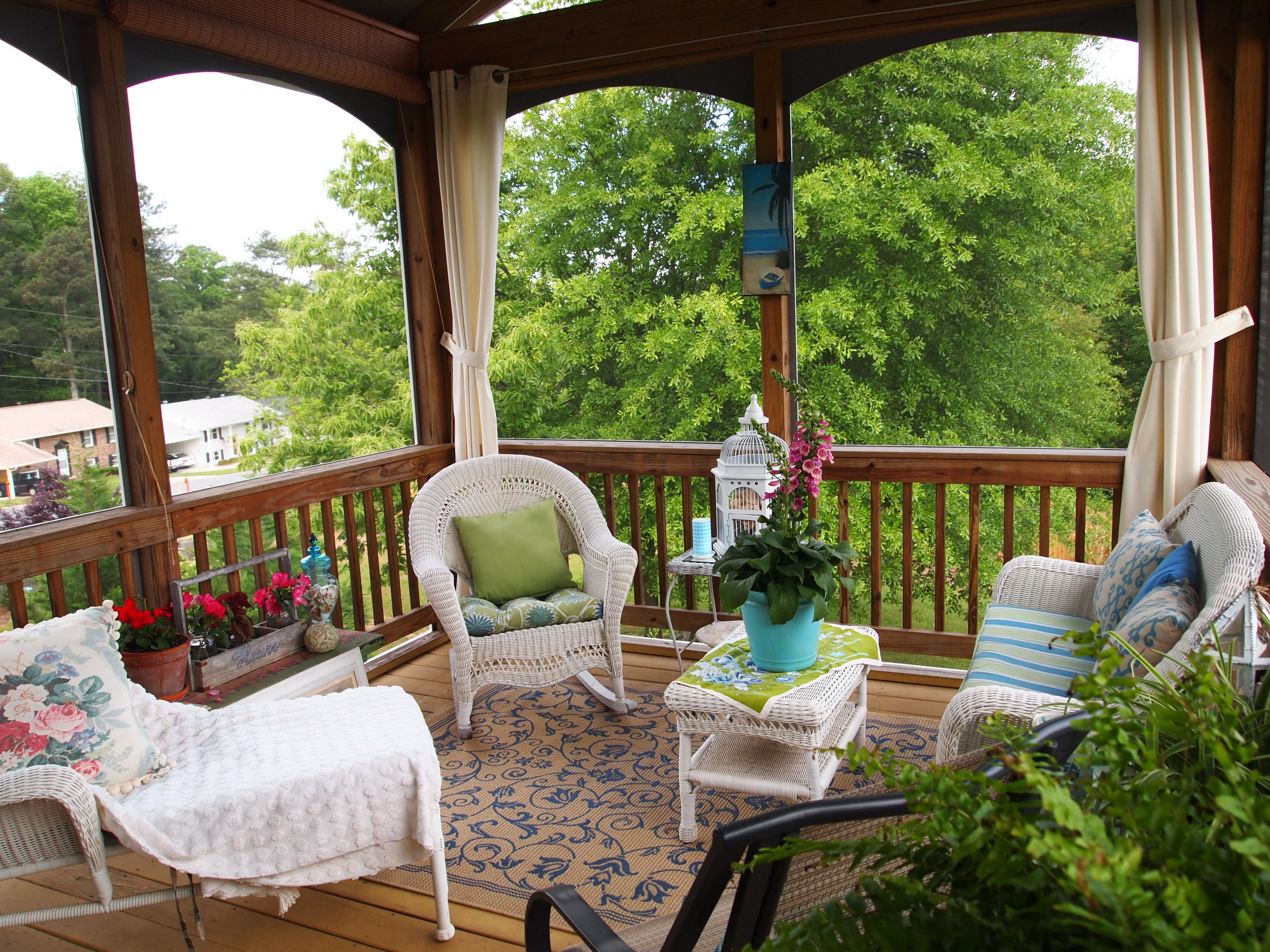 Screened Porch Decorating — A Cultivated Nest