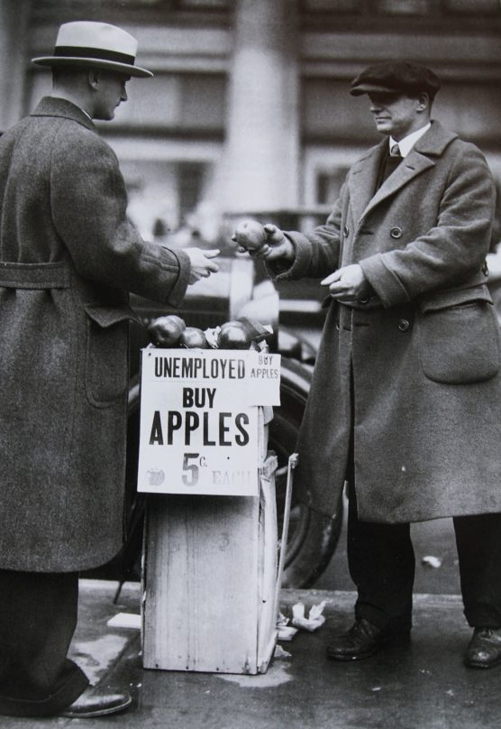 selling apples during the Depression