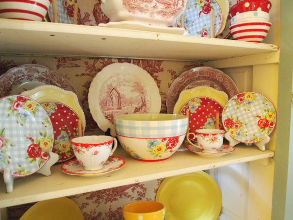 cottage china cabinet