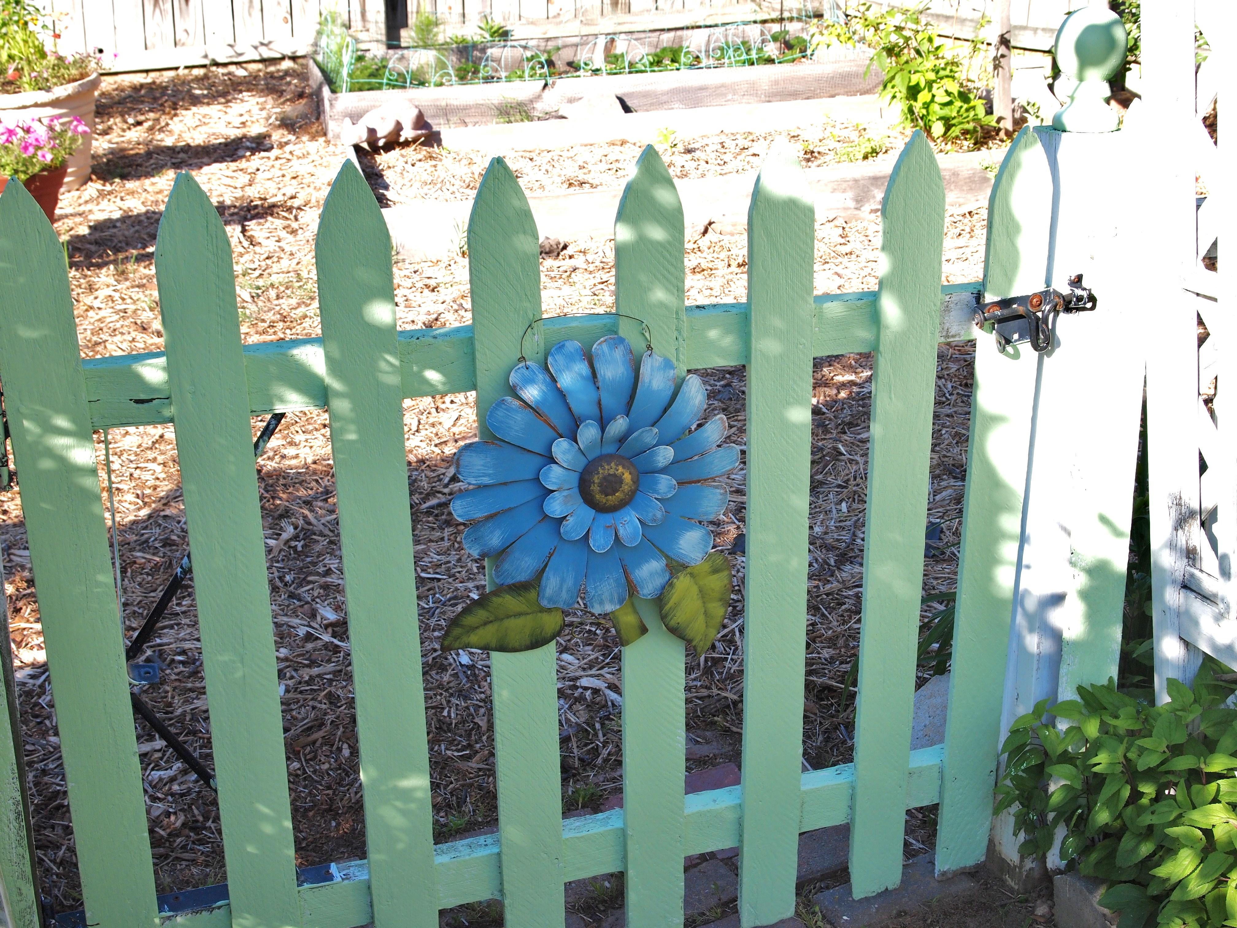 Painted Garden Gate