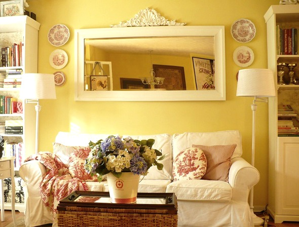 Outstanding Hang Mirror above Sofa 590 x 448 · 86 kB · jpeg