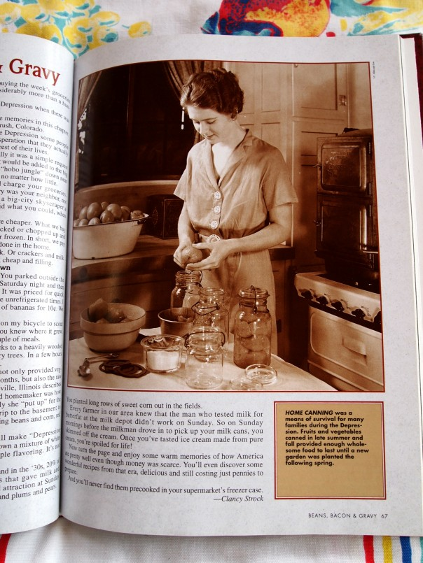 depression era woman canning