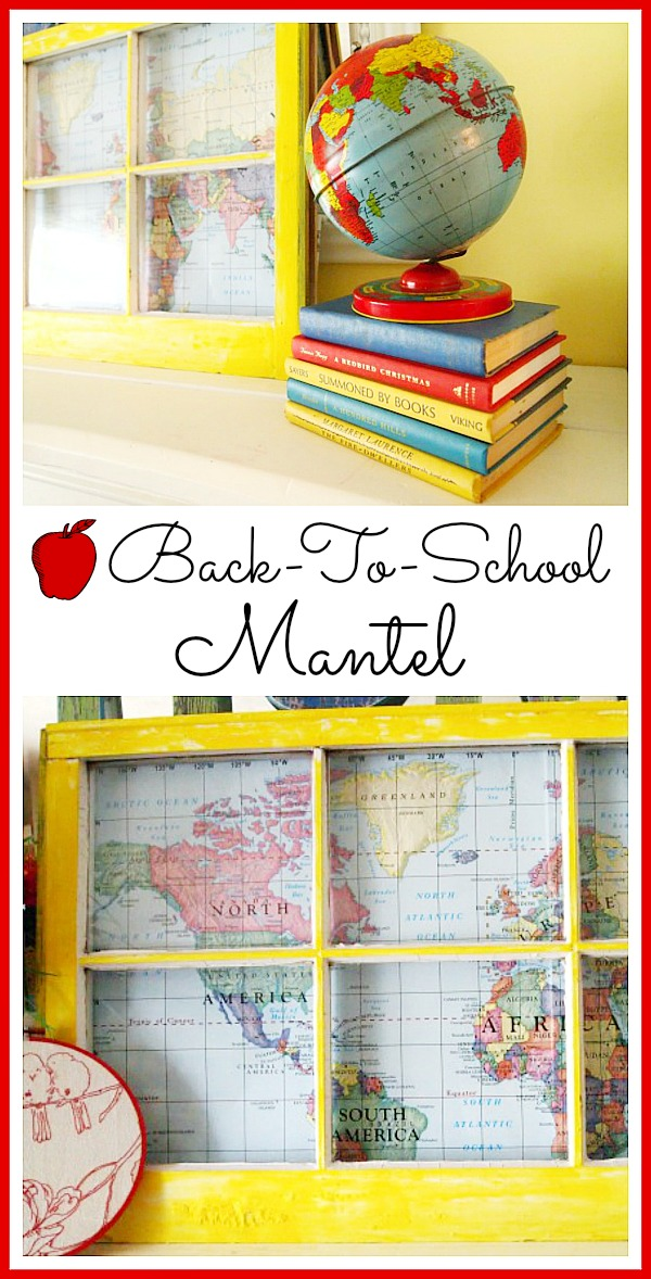 Cute back to school mantel ideas!
