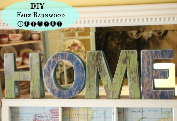 DIY Faux Barnwood Letters - A Cultivated Nest