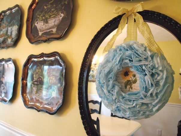 a cultivated nest aqua coffee filter wreath