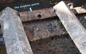 broken grill part