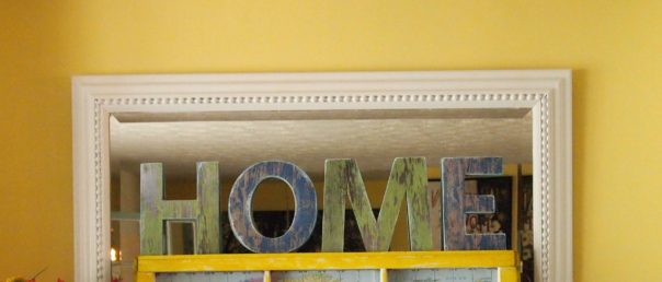 faux barnwood letters
