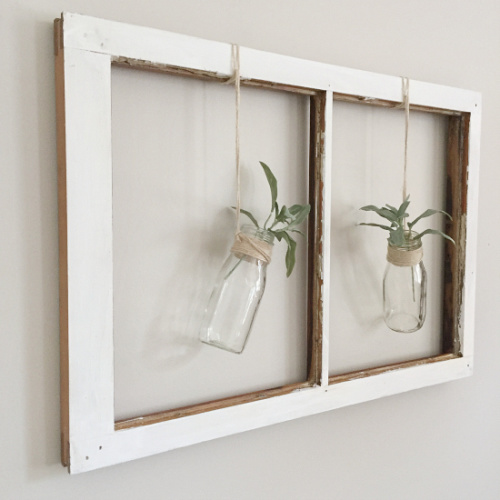 Using Old Windows- Lots of great ideas for ways you can use old windows in your home and garden. They add charm, style, and elegance to your space. #ACultivatedNest