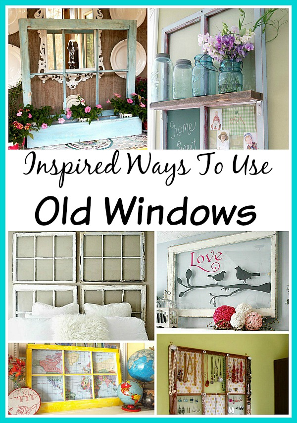 Pinterest decorating with old shutters pictures to pin on for Ways to use old windows