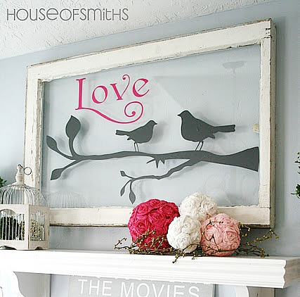 repurposed window as wall art from House of Smiths