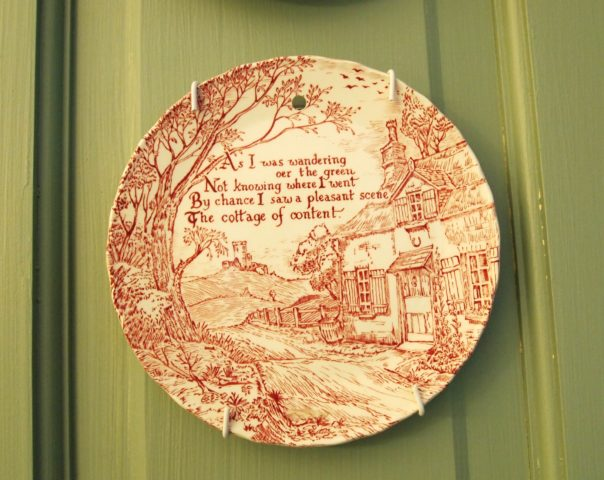 Cottage of Content Plate