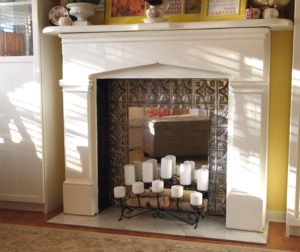 Faux Ceiling Tin Fireplace Firebox