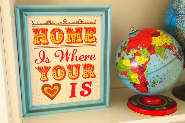home is where your heart is sign