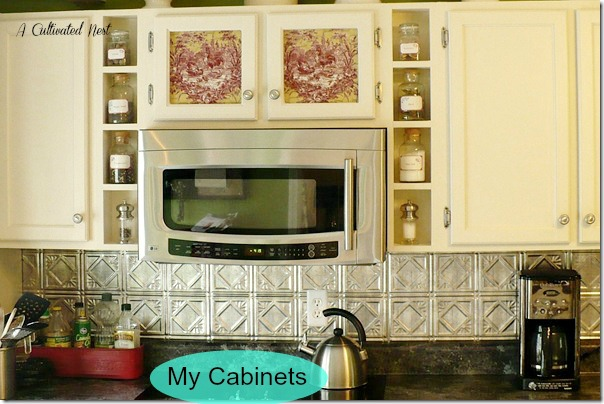 kitchen with ceiling tin backsplash