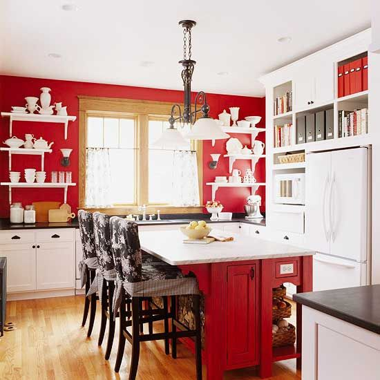 Red cottage kitchen designs | Red kitchen design ideas (BHG)