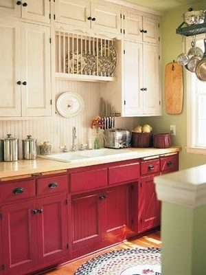 bicolor kitchen