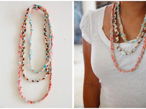 scrap fabric necklaces