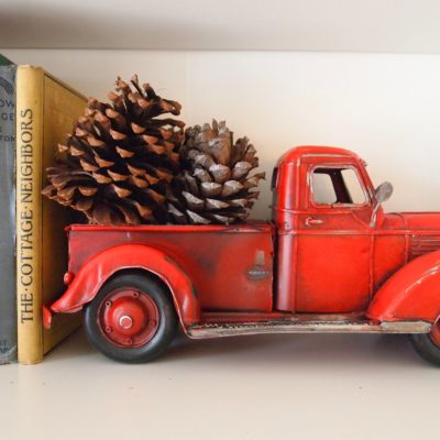 red toy farm truck