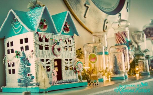 Christmas scenes in jars