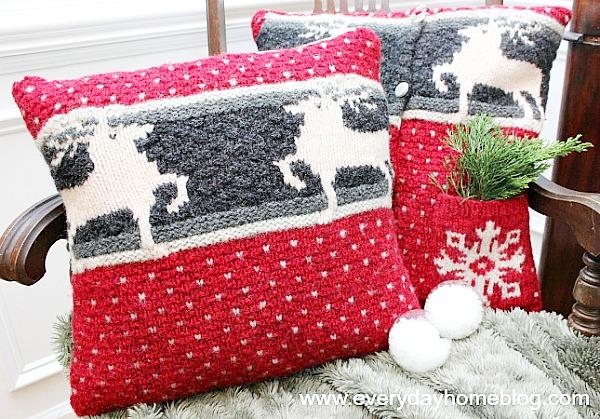 Sweater pillow roundup