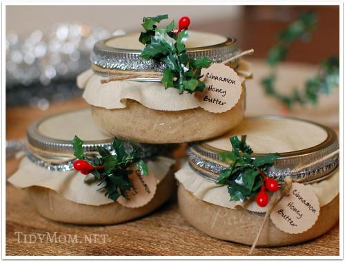 cinnamon honey butter in jar