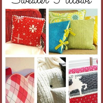 Old sweater make great pillows! Here are some cute ideas for recycling your sweaters into something for your decor.