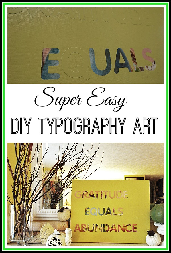 Easy DIY Typography Wall Art
