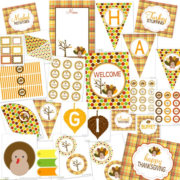 Free Thanksgiving Printables Package