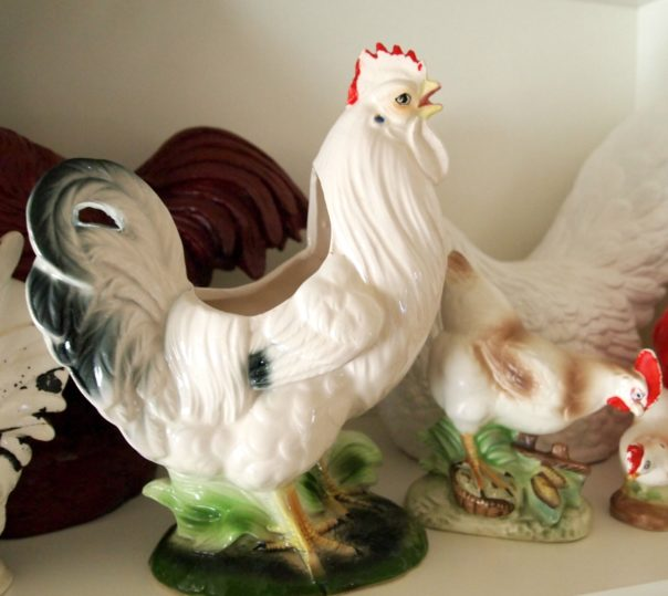 vintage rooster vase - A Cultivated Nest