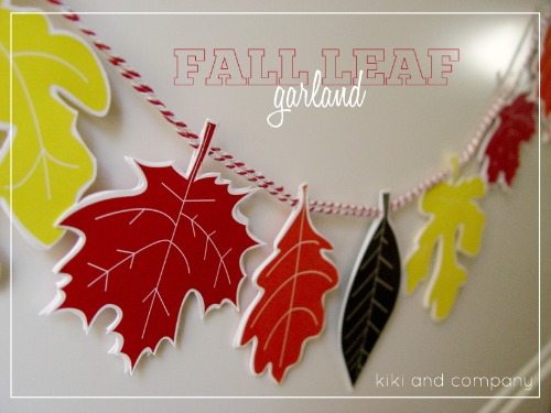 free printable fall leaf garland