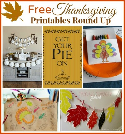 free thanksgiving printables roundup
