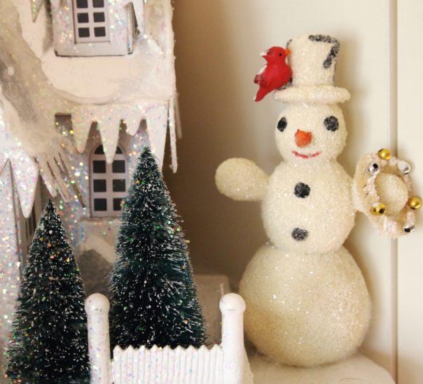 glittery snowman