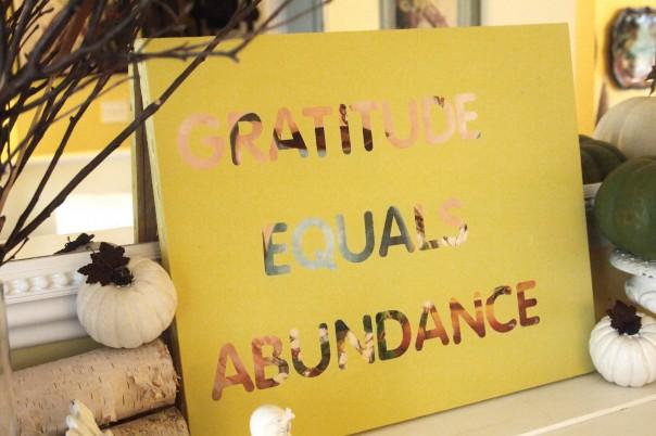 Gratitude Equals Abundance - A Cultivated Nest