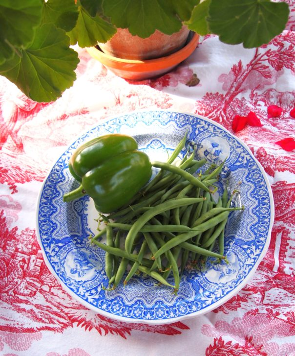 green pepper & green beans @ A Cultivated Nest
