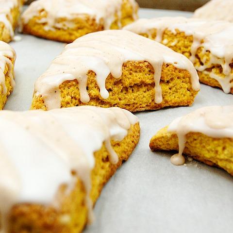 pumpkin scones from Sweet Pea's Kitchen