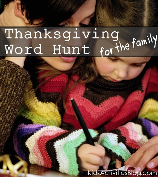 thanksgiving word hunt