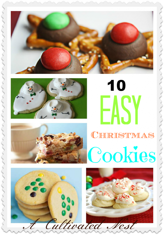 10 Esy Christmas Cookie Ideas