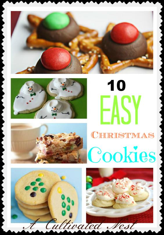 10 Esy Christmas Cookie Ideas