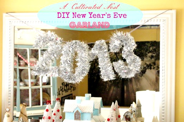 ACultivatedNest.com: DIY New Year's Eve Garland
