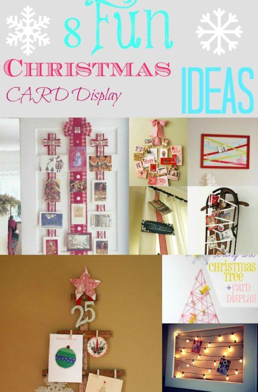 8 Creative Ways to Display Christmas Cards- Are you wondering how to display the Christmas cards you've received? Here are some great ideas for displaying your cards this year! | #ChristmasDIY #ChristmasCardDisplay #ChristmasCards #ChristmasDecor #ACultivatedNest
