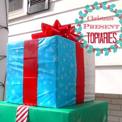 Christmas Present Topiary