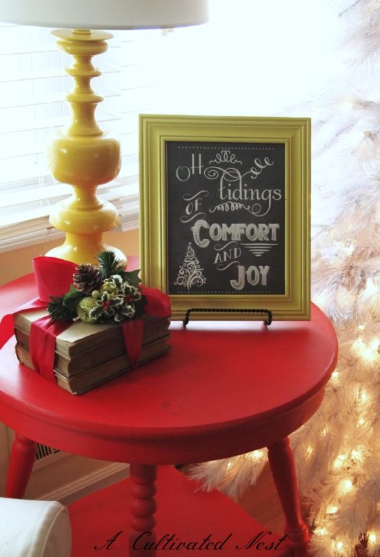 Christmas Chalkboard Printable