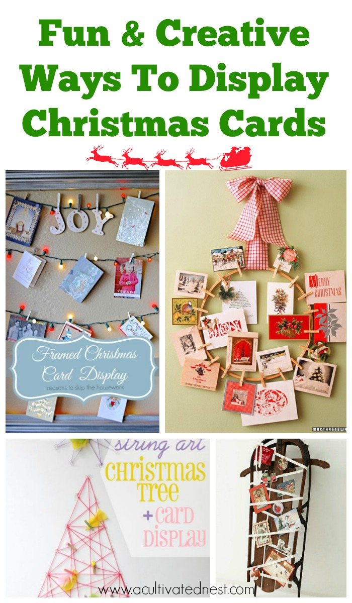 Creative DIY Ways To Display Christmas Cards- Are you looking for ways to display that pile of Christmas Cards? Check out these cool Christmas card display holders! These are really great DIY Christmas projects that are suitable for people of all skill levels! #christmas #ChristmascardDisplay #diy #diyhomedecor
