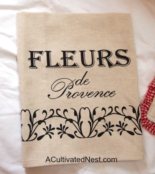 French Fleurs tea towel