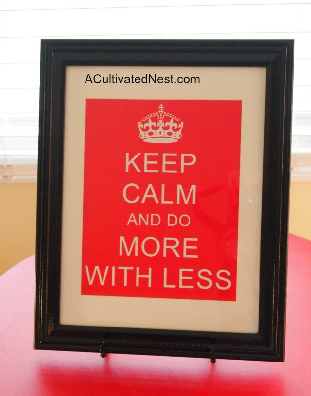 Framed Keep Calm Print