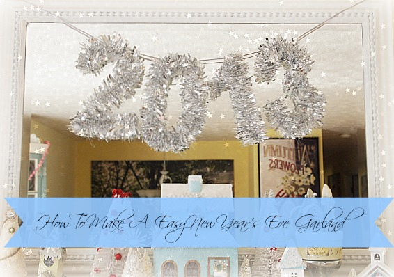Easy to make DIY New Year's Eve Garland