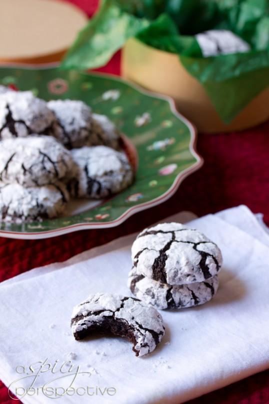 Mexican Mocha Crinkle Cookies